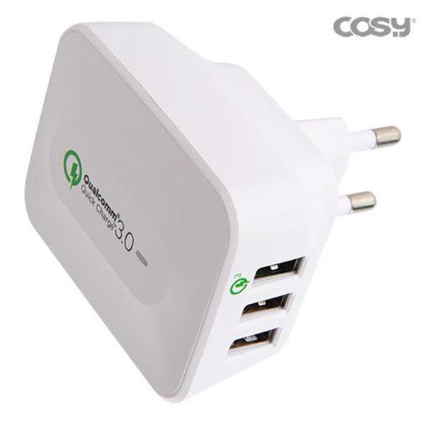 코시 QC3.0급속충전(퀵차지)USB3포트충전기 CGR3162UB