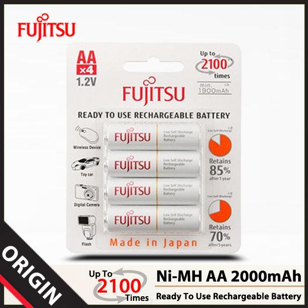 후지쯔 Ni-MH AA 2000mAh 충전지 (4알)/배터리/건전지