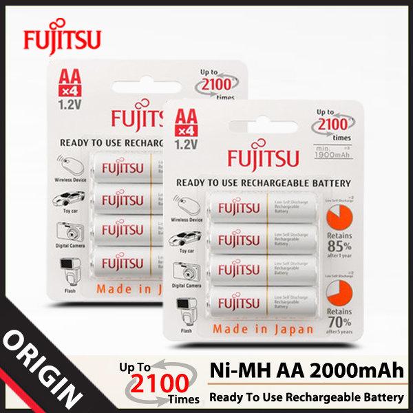 후지쯔 Ni-MH AA 2000mAh 충전지 (8알)/배터리/건전지
