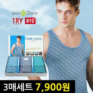3매7900원/런닝/세트/반팔/조끼/남성/남자/속옷