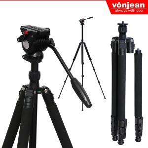 VT-347fx 비디오 카메라 삼각대+MT-837H 3way 헤드SET