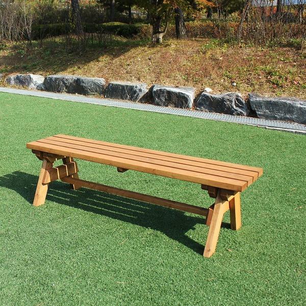 야외 평의자 정원 나무 벤치 DIY 원목 방부목 의자 - 옥션