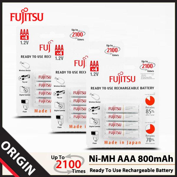 후지쯔 Ni-MH AAA 800mAh 충전지 (12알)/배터리