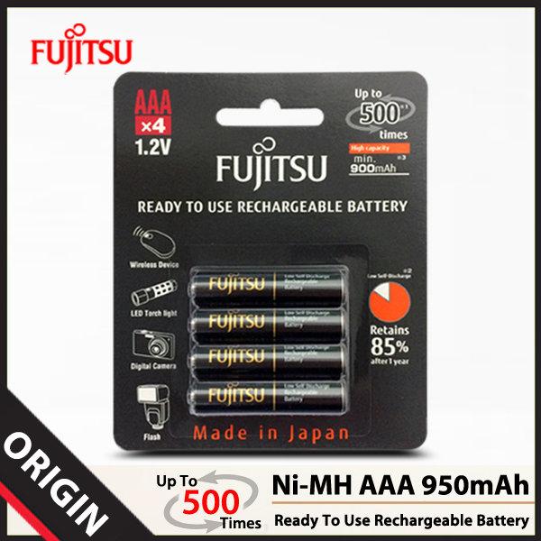 후지쯔 Ni-MH AAA 950mAh 충전지 (4알)/배터리/건전지