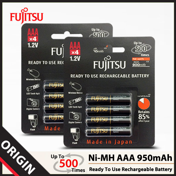 후지쯔 Ni-MH AAA 950mAh 충전지 (8알)/배터리/건전지