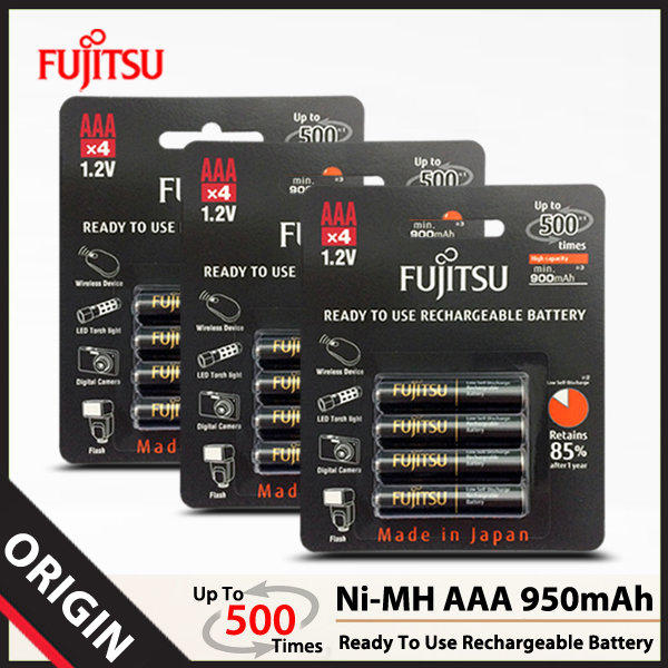 후지쯔 Ni-MH AAA 950mAh 충전지 (12알)/배터리
