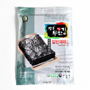 장흥무산김 파래재래김 1속 100매 생김 유기인증김