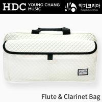 영창 플룻 클라리넷 플루트 악기 가방 케이스아이보리