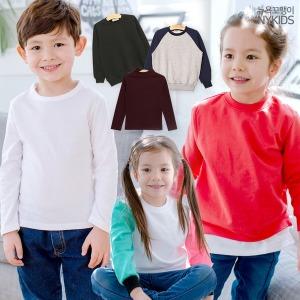 유아동 의류/가을신상/티셔츠/기본티/맨투맨/단체티