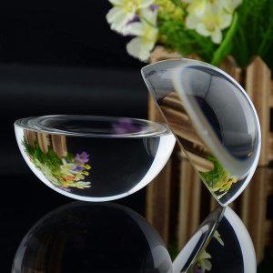 크리스탈 유리 돔 반구 확대경 사진 포토 이미지 문진