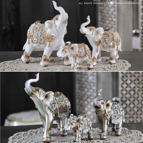 인테리어 코끼리 인형 장식 세트 소품 집들이 선물