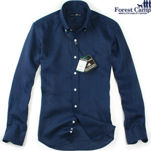 FOREST CAMP  Custom-Fit Linen Long Sleeve Shirts/