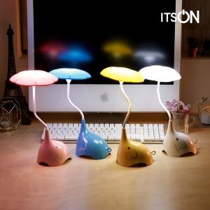 잇츠온 코끼리 LED 무드등 수유등 터치등 취침등 캠핑 - 상품 이미지