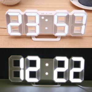 3D LED 벽 시계 알람 탁상 인테리어 무소음 전자 시계