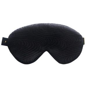 all black silk sleep mask
