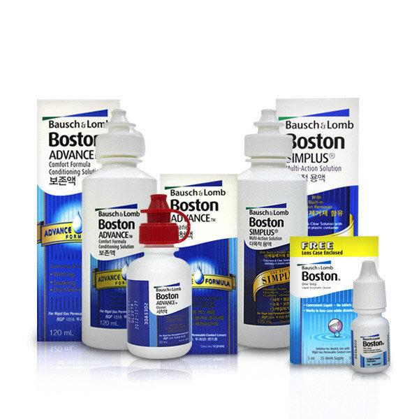 보스톤 보존액 심플러스 세척액 2개 3개 하드렌즈
