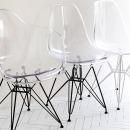 인테리어 투명 의자 / 모던 디자인 카페 식탁 화장대