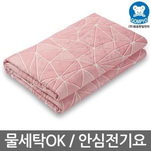 곰표한일 워셔블 전기요 GP1000 장판 크로크 핑크 소