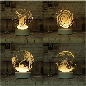 아크릴 3D 조명 DIY 램프 야간조명 LED 램프 원격제어
