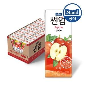 썬업 100% 사과 200ml 24팩/쥬스/주스/과즙/음료