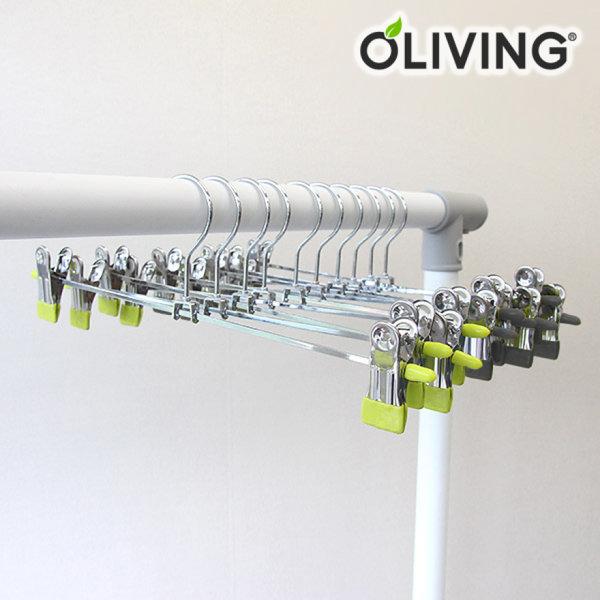 [올리빙] PVC 코팅 바지집게 30개