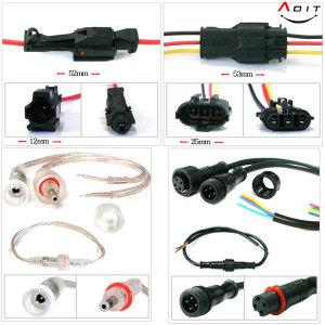 2P 3P 4P 2핀 4핀 방수 전선연결 커넥터 전원케이블