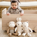오가닉 우리아기 동물친구오가닉인형 18종택1(토끼 강아지 원숭이 곰 고양이 양 외~)/애착