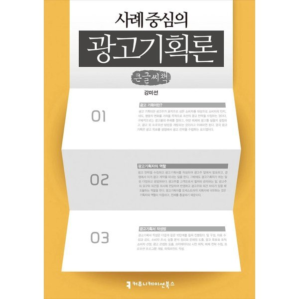 사례 중심의 광고기획론 - 큰글씨책  지식을만드는지식   강미선