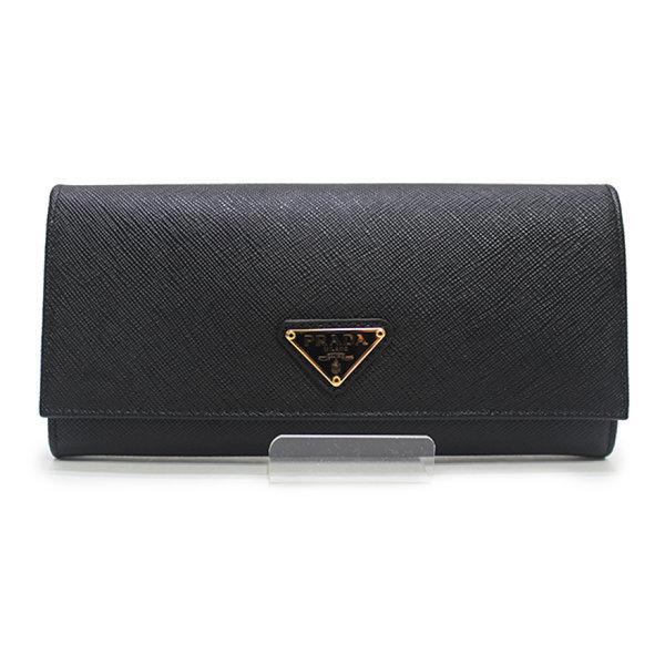 [프라다] 사피아노 트라이앵글 가죽 플랩 장지갑 1MH132 QHH F0002