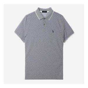 헤지스남성 HZTS7B435G2 COOLON 도트 패턴 트임 반팔 티셔츠