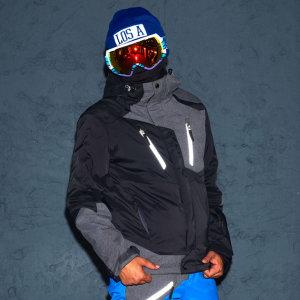 STL  1516 맨스키1 스키복 자켓 블랙 남성용