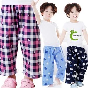아동/파자마/밍크조끼/바지/9부/바지잠옷/면/원피스