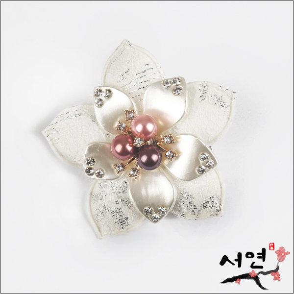 서연한복/겨울꽃브로치겸헤어핀/브로치/머리핀