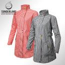 선덜랜드 여성 최고급 완벽방수 심실링처리 체크무늬 버튼포인트 레인코트/사파리비옷 - 164