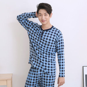 SNM377  체크세트 남성 상하/남성잠옷/세트잠옷