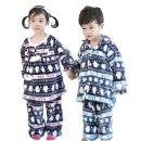 아동 수면잠옷세트 상하의 보온 인조밍크 펭귄러브