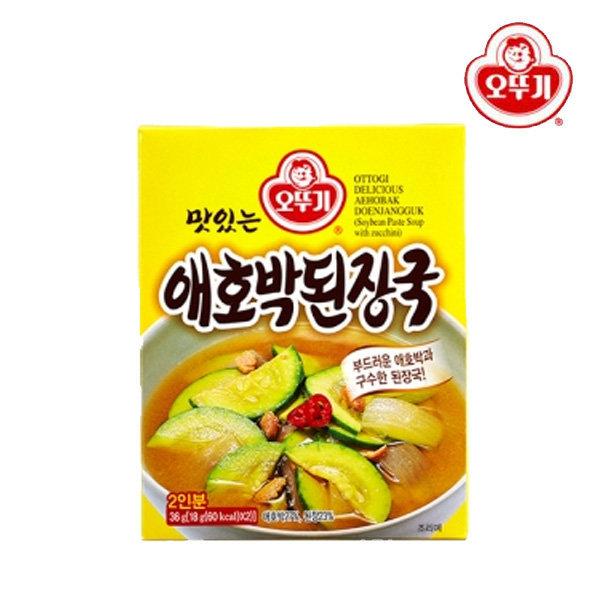 오뚜기 맛있는 즉석애호박된장국 (18gx2개입) 2인분