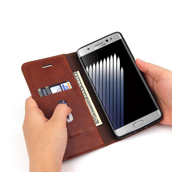 노트7 노트FE 가죽 핸드폰 케이스 지갑형 카드수납