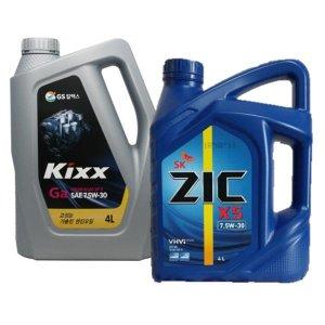 KIXX GA 킥스GA ZIC 지크 X5 7.5W30 가솔린엔진오일