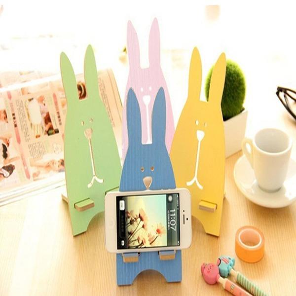 토끼거치대 휴대폰 핸드폰 인테리어소품 휴대용받침