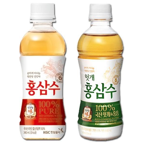 [정관장] 정관장-홍삼수/헛개홍삼수 340mlX20펫-6년근홍삼/생수