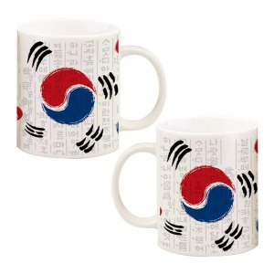 Korean Flag 대한민국 태극기 머그컵 국기 디자인