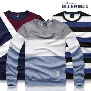 겨울신상 맨투맨티/기모 커플단가라남자옷단체티셔츠