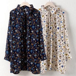 가을 빅사이즈 롱 남방 레이스 꽃 블라우스 셔츠 모음