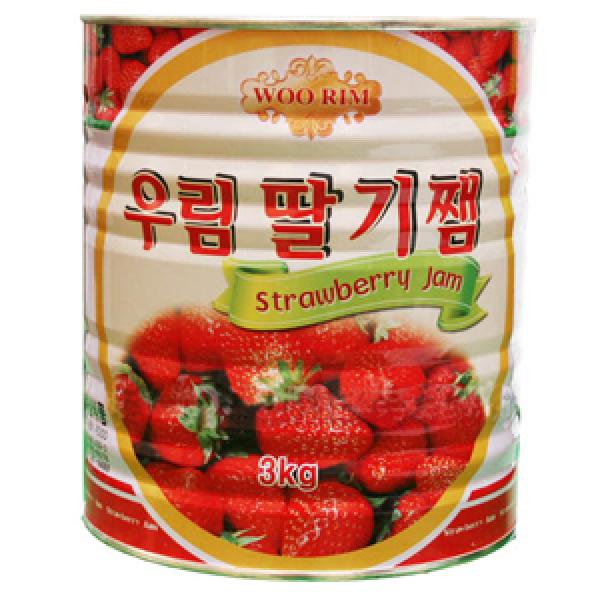 우림 딸기쨈 3kg/대용량딸기쨈/쨈/잼/딸기/토스트/