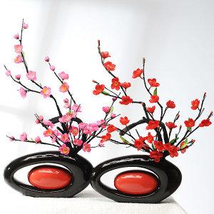 가꾸지오   원형손잡이화병-매화꽃