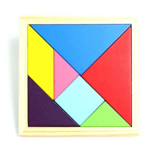 컬러칠교(14x14)/칠교놀이/원목칠교/퍼즐놀이/도형