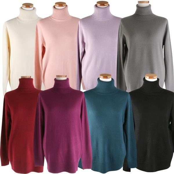 캐시미어 목폴라 긴팔 티셔츠 22색 니트  여성 터틀넥