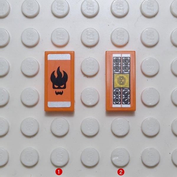 스티커/Orange Tile 1 x 2  8630