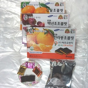제주 초콜릿(大) (감귤/백년초/한라봉/녹차) 3상자